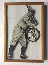 Babe Ruth Vintage Wooden Clock Raised 3D Framed 11X16 Yankees  1/1 original