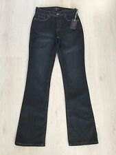 BNWT NYDJ BOOTCUT DARK BLUE JEANS UK SIZE 12 (US 8) L33""