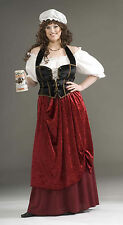 Tavern Wench Womens Plus Size Costume Renaissance LARP Cosplay Costume