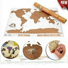 New 52*88cm Scratch Off Travel Poster World Map Wall Stickers Birthday Gift Cool