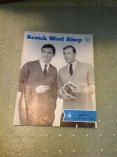 Vintage Men's Club Coats Knitting Pattern - Scotch Wool Shop Greenock Quick Six