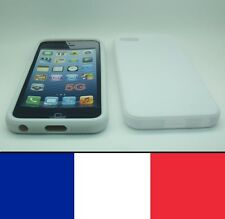 Housse silicone Blanc pour iphone 5, 5S,SE etui protection, coque silicon case