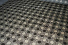 """Upholstery /Curtain Fabric/Round Chocolate & Cream//56"""" Wide/Sold Per Metre/A5"""