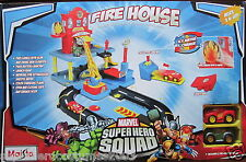 Superhero Squad Fire House Playset Iron Man Hulk Marvel Comics Brand New