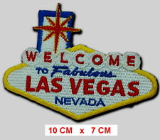 WELCOME to LAS VEGAS EMBROIDERED Iron on PATCH / Badge