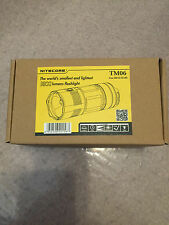 BRAND NEW NITECORE TM06S 3800 LUMENS FLASHLIGHT +  1 nitecore d4 charger