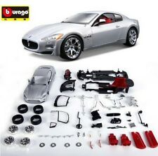 Bburago 1:24 Maserati GT Diecast Assembly DIY Model Car Vehicle Silver New