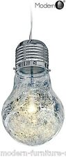 FUNKY GIANT LIGHT BULB SHAPED CHANDELIER, MODERN LIGHT BULB SHAPED CEILING LIGHT