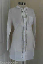 size 12 short shirt tunic from monsoon brand new white