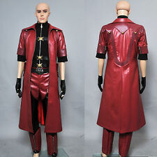 Devil May Cry 4 DMC4 Dante Pleather Jacket Trench Coat cosplay costume Full Set