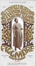 Jefferson Airplane Butterfield Mama Thornton Fillmore Concert Handbill Postcard