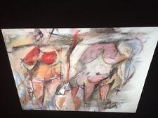 """William De Kooning """"2 Women Torsos"""" Abstract Expressionist 35mm Art Slide"""