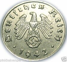 Germany - German 3rd Reich - German 1942B Reichspfennig Coin - Rare WW 2 Coin