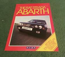 October 1985 FIAT STRADA 130 TC  ABARTH - COLOUR FOLDER BROCHURE