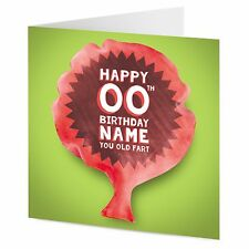 PERSONALISED whoopee cushion HAPPY BIRTHDAY YOU OLD FART funny rude cheeky card