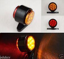 2x Red Amber LED Stalk Side Marker Lights Lamps Truck Bus Tractor Lkw Kitcar 12V