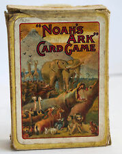 VINTAGE THOMAS DE LA RUE NOAH'S ARK PLAYING CARD GAME  about 1905