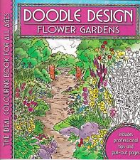 Flower Gardens Colouring Book - Doodle Design - Art Therapy
