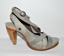 NEOSENS NEW SZ 5.5 M 36 LEATHER PLATFORM ANKLE STRAP SANDALS SPAIN