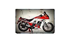 1983 xj650 turbo Bike Motorcycle A4 Retro Metal Sign Aluminium