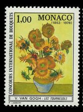 "Monaco 1978 - ""The Sunflowers"" Painting By Van Gogh - Sc 1124 MNH"