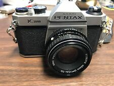 Pentax K1000 Film Camera with 50 mm lens and 135mm lens
