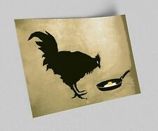 ACEO Banksy Chicken and Egg Graffiti Street Art Canvas Giclee Print