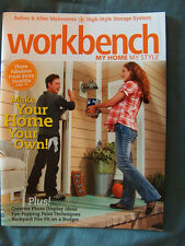 Vintage 2009 Workbench magazine, fire pit,storage wall, front entry makeover