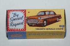 Reprobox Corgi Toys Nr. 231 - Triumpf Herald Coupé