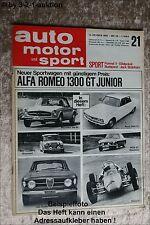 AMS Auto Motor Sport 21/66 Rover 2000 TC Alfa GT 1300 Mini Cooper S MGB