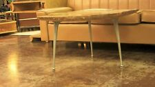 """3 MCM Industrial Aluminum Coffee Table Legs """"Gazelle"""" (front) Shelby Williams"""