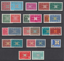 Europe, 1963 EUROPA - CEPT issues complete less Cyprus, 24 stamps, 13 countries
