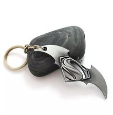 Batman v Superman: Dawn of Justice Keychain - DC Comics Silver Keyring UK SELLER