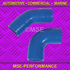 10mm ID 90DEG BEND BLUE SILICONE HOSE 3-PLY - 492/90/BE