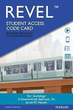 REVEL for Sociology Down-to-Earth -- Access Card (12th Edition), New