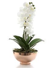 'FLORABELLE' NEW Artificial Orchid Arrangement with Copper Bowl RRP$125.95