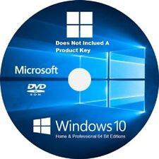 10 Windows per home & Pro 64-bit / RE-Install / riparazione DVD / Versione completa