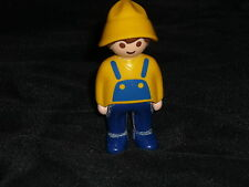 Playmobil Vintage Sea Captain Sailor Man Worker in Yellow & Blue
