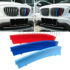 M-Colored Car Front Center Grille Trim Strip Decoration ABS Cover For BMW X1 E84