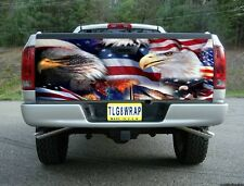 T40 AMERICAN FLAG EAGLE USA TAILGATE WRAP Vinyl Graphic Decal Sticker Tint Bed
