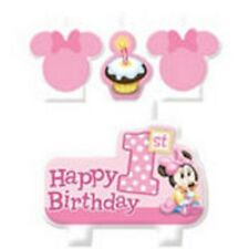 Disney Minnie Mouse 1st Birthday Party Candle Set (4pcs.)