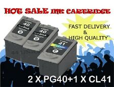 2x PG40 Black 1x CL41 color ink Cartridges for Canon printer