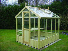 "Timber Greenhouse 6ft 8"" x 8ft 4"" INSTALLED,Quality Bargain."