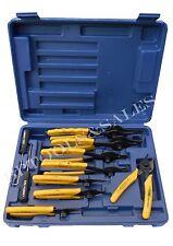 11 Pc Snap Ring Pliers Set Mechanics Circlips Auto Tool Internal External Pliers