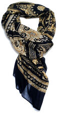 Versace Collection Women cashmere mix Scarf Shawl Made Italy in BOX 205x65 cm