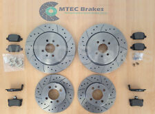 MG TF 160 Front Rear Drilled Grooved Brake Discs Pads
