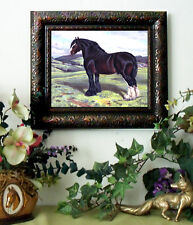 Champion Shire Draft Horse Print Antique Style Framed Pony
