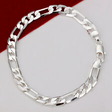 "FreeShipping! 925 Silver Hot Selling 6MM 8"" Men's Lady's Bracelet ZH219+BOX"