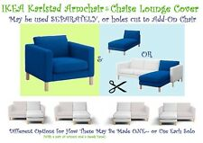"IKEA Karlstad Korndal""Medium""Blue Chair&Chaise Lounge SOFA Cover Slipcover NEW"