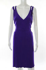 Issa Purple Criss Cross Sleeveless Morning Glory Gown Size 8 New $10083212
